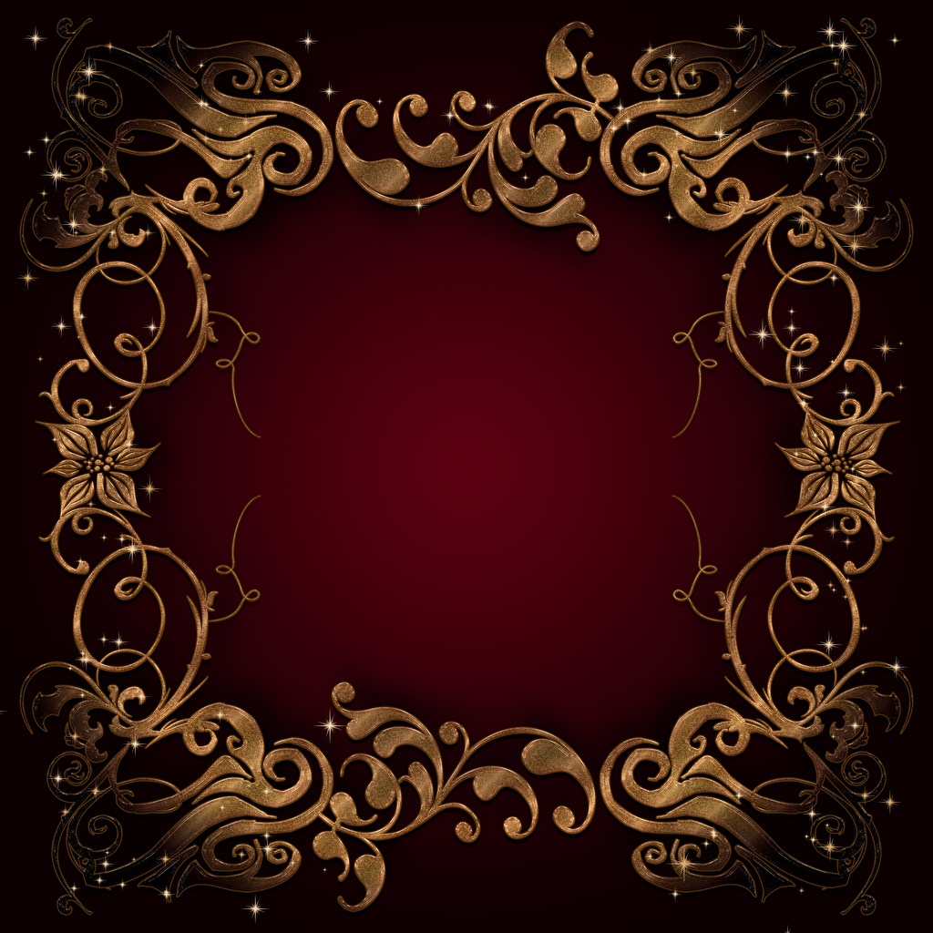 Picture Tracery Template greeting card Colored background ornament