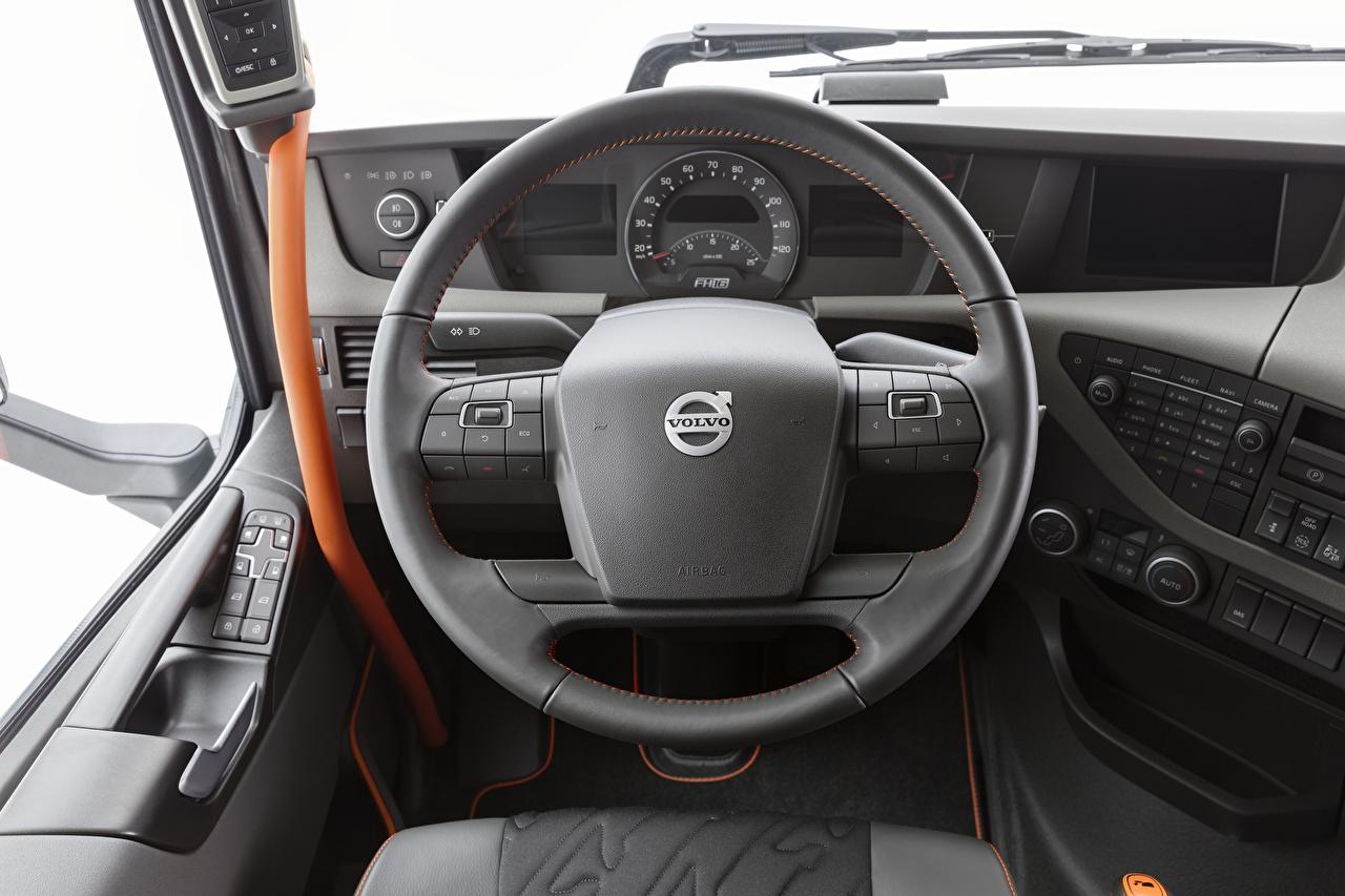 Skrivebordsbakgrunn Volvo Salons Bil ratt FH 500 Globetrotter XL automobil bil Biler