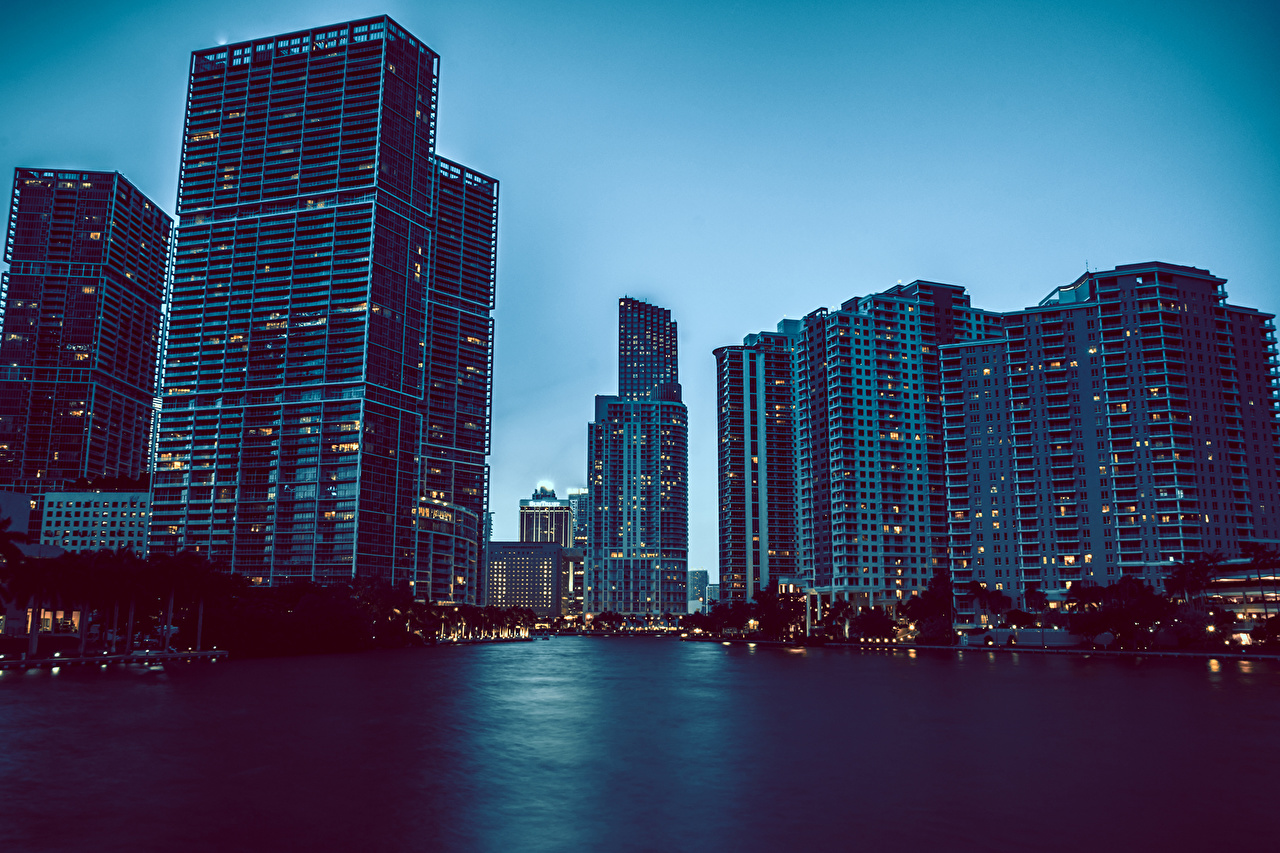 Picture Florida USA Miami Cities Building Houses