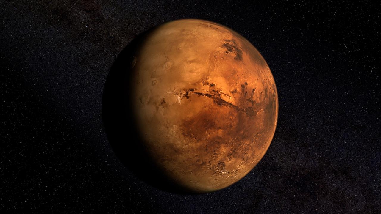 Achtergronden bureaublad Mars planeet Ruimte 3D afbeeldingen Planeten 3D graphics 3D afbeelding