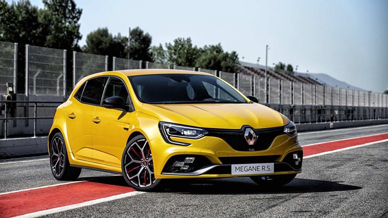 Renault Megane RS Trophy 2018 Amarelo Metálico carro, automóvel, automóveis Carros