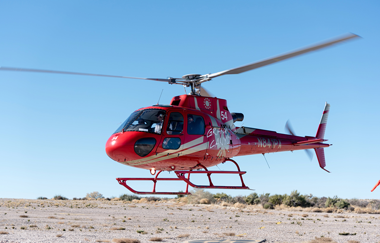 Images Helicopters Red Aviation helicopter