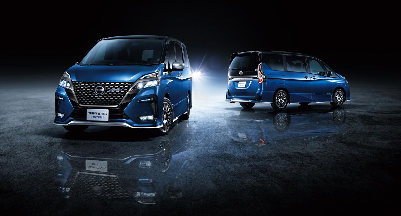Wallpaper Nissan 2019 Serena Autech Two Blue Cars 2 auto automobile