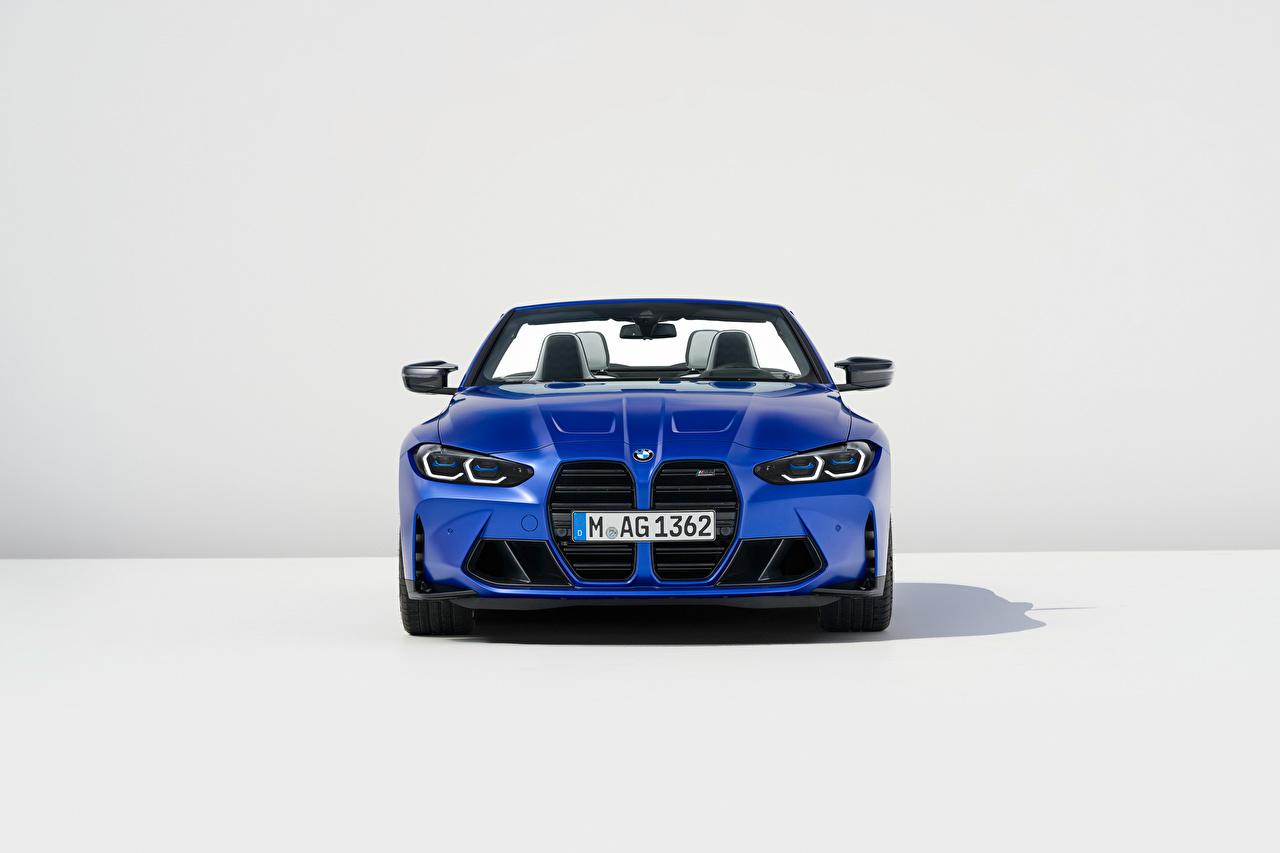 ,BMW,M4 Competition M xDrive Cabrio, (Worldwide), (G83), 2021,敞篷车,蓝色,金屬漆,正面圖,汽车,
