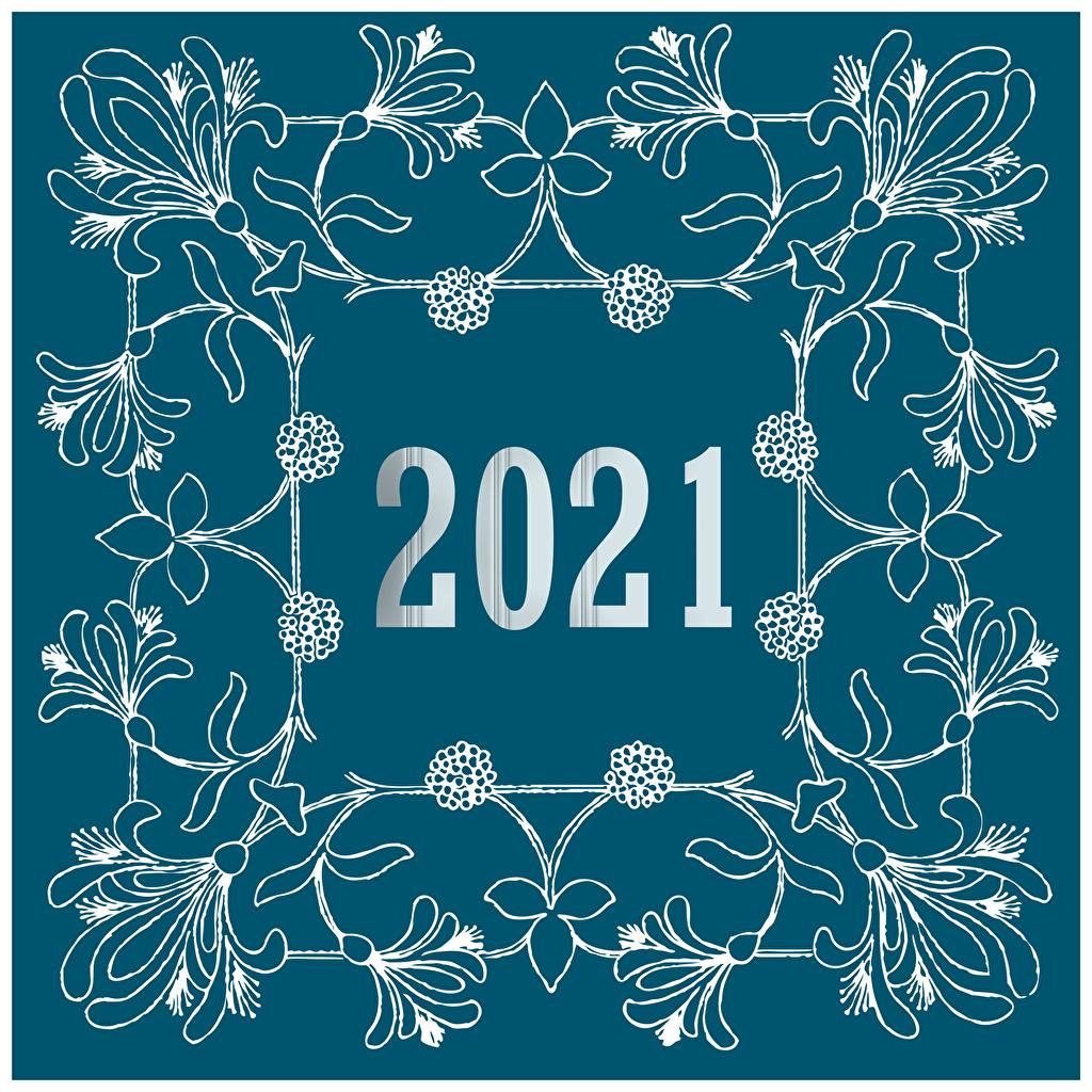 Bilder 2021 Neujahr Ornament Tracerie