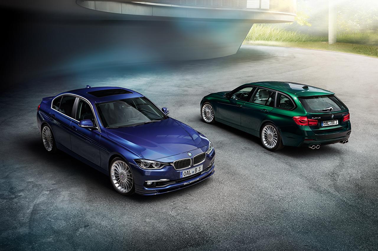 Desktop Wallpapers BMW 2013 Alpina 3-Series F30 F31 2 Cars Two auto automobile