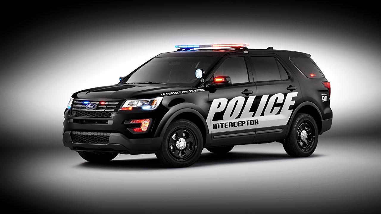 壁紙 福特汽车 15 Police Interceptor U502 警察 汽车 下载 照片