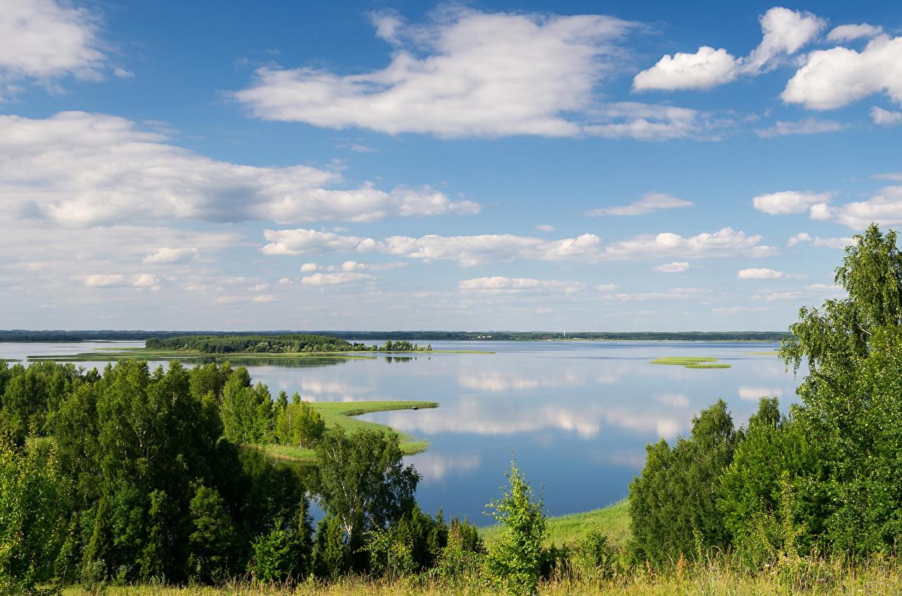 Photos Latvia Snudy Nature Sky Lake Clouds