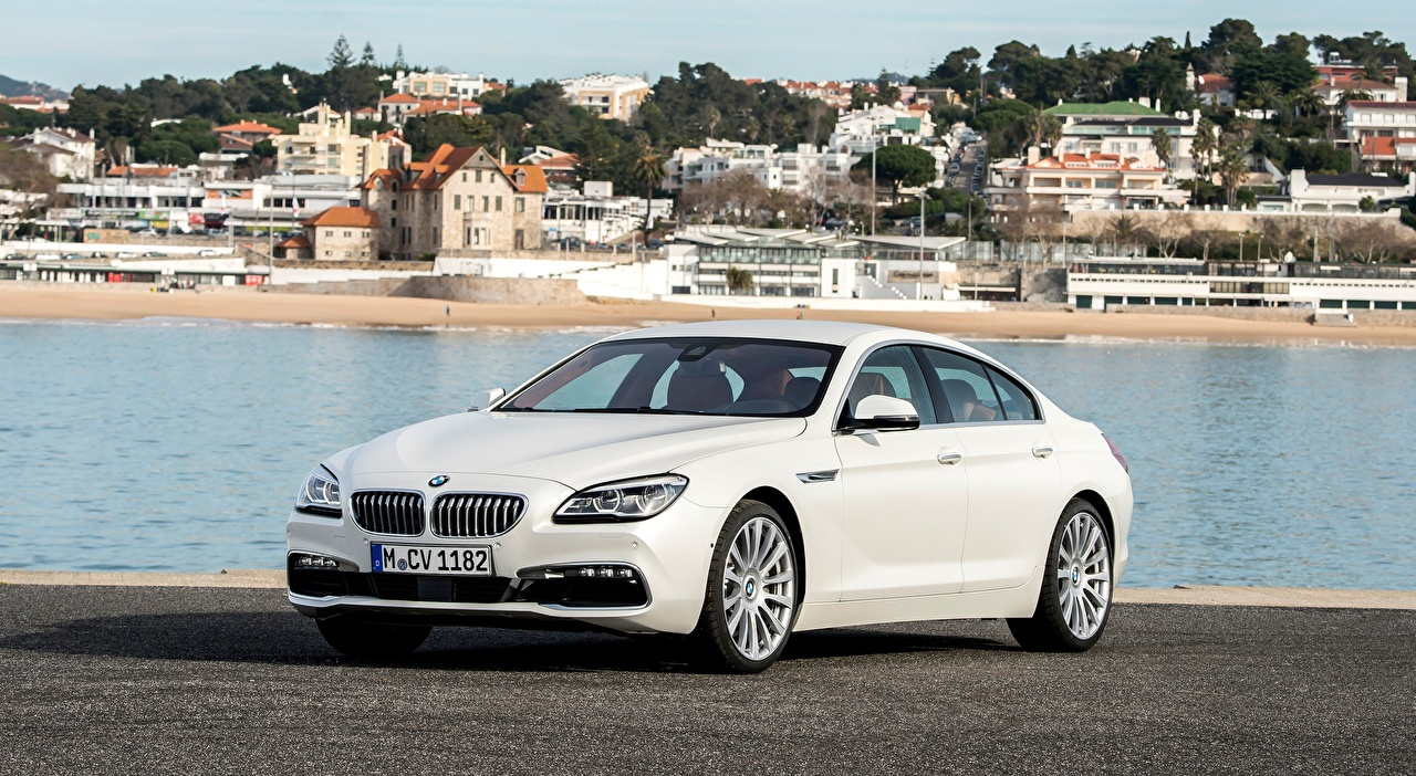 Fotos BMW 650i, Gran Coupe, Individual, 2015 Limousine Weiß Autos Metallisch auto automobil