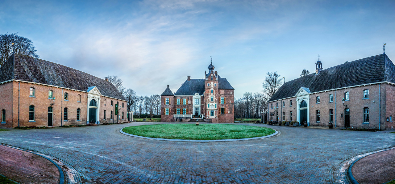 Desktop Wallpapers Netherlands Kasteel Cannenburgh Castles Lawn Cities castle