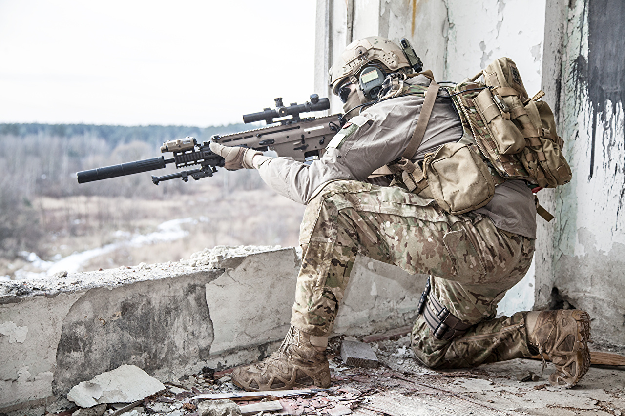 Wallpaper Snipers Rifles Soldier Military