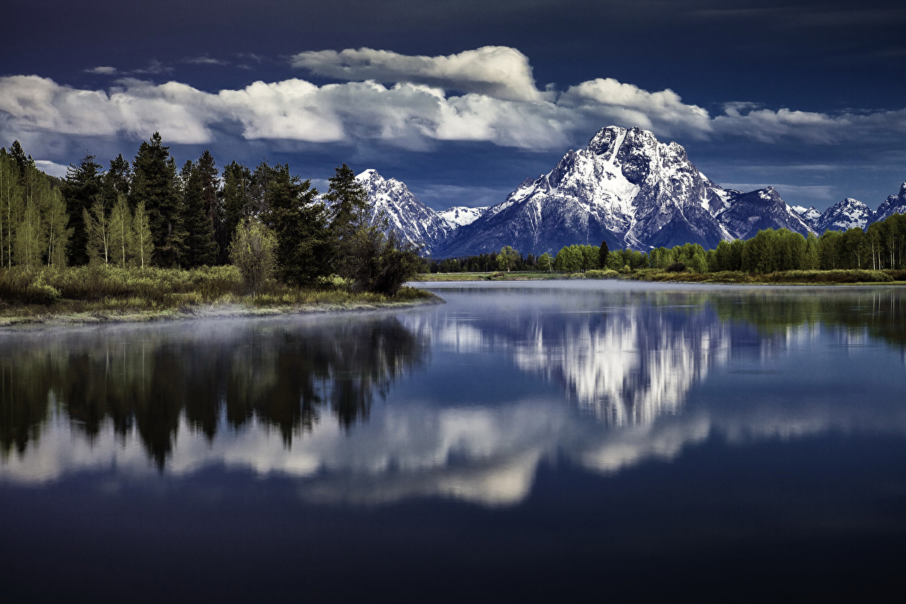 Wallpaper Grand Teton Nature mountain Lake Parks Forests landscape photography Mountains park forest Scenery
