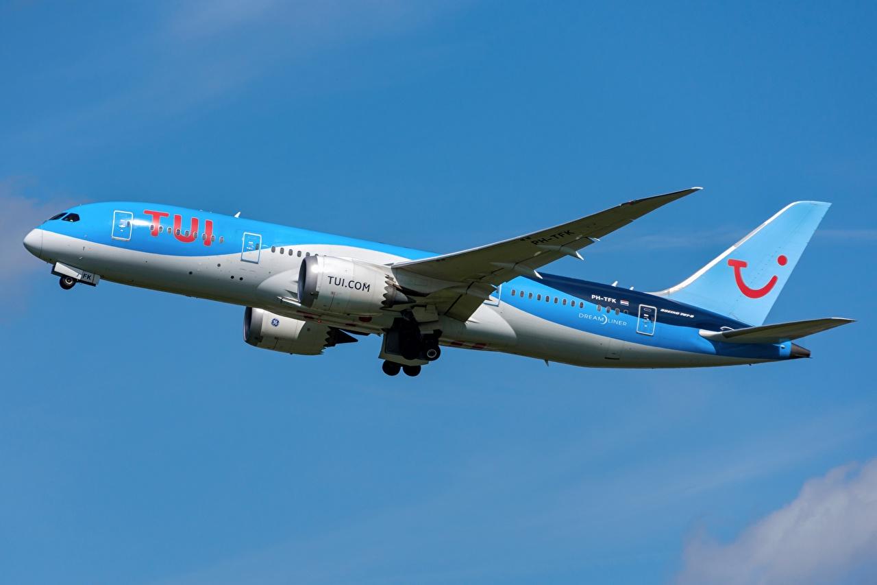 Fotos von Boeing Flugzeuge Verkehrsflugzeug 787-8, TUI, Dreamliner Seitlich Luftfahrt