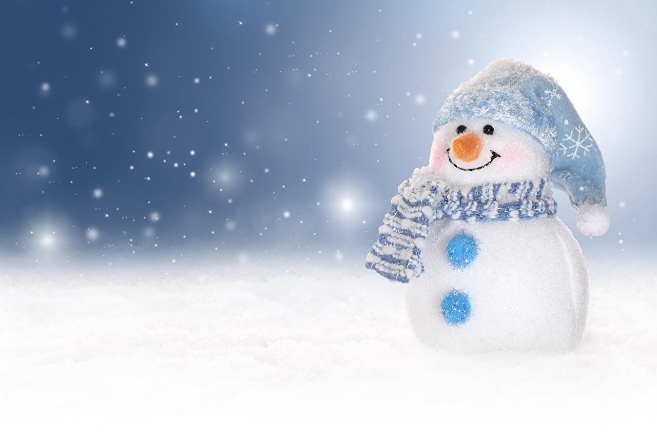 壁紙 祝日 新年 雪だるま 雪の結晶 ダウンロード 写真
