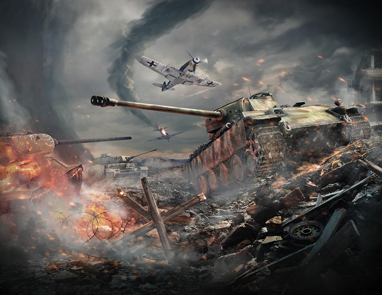 war thunder обои танки