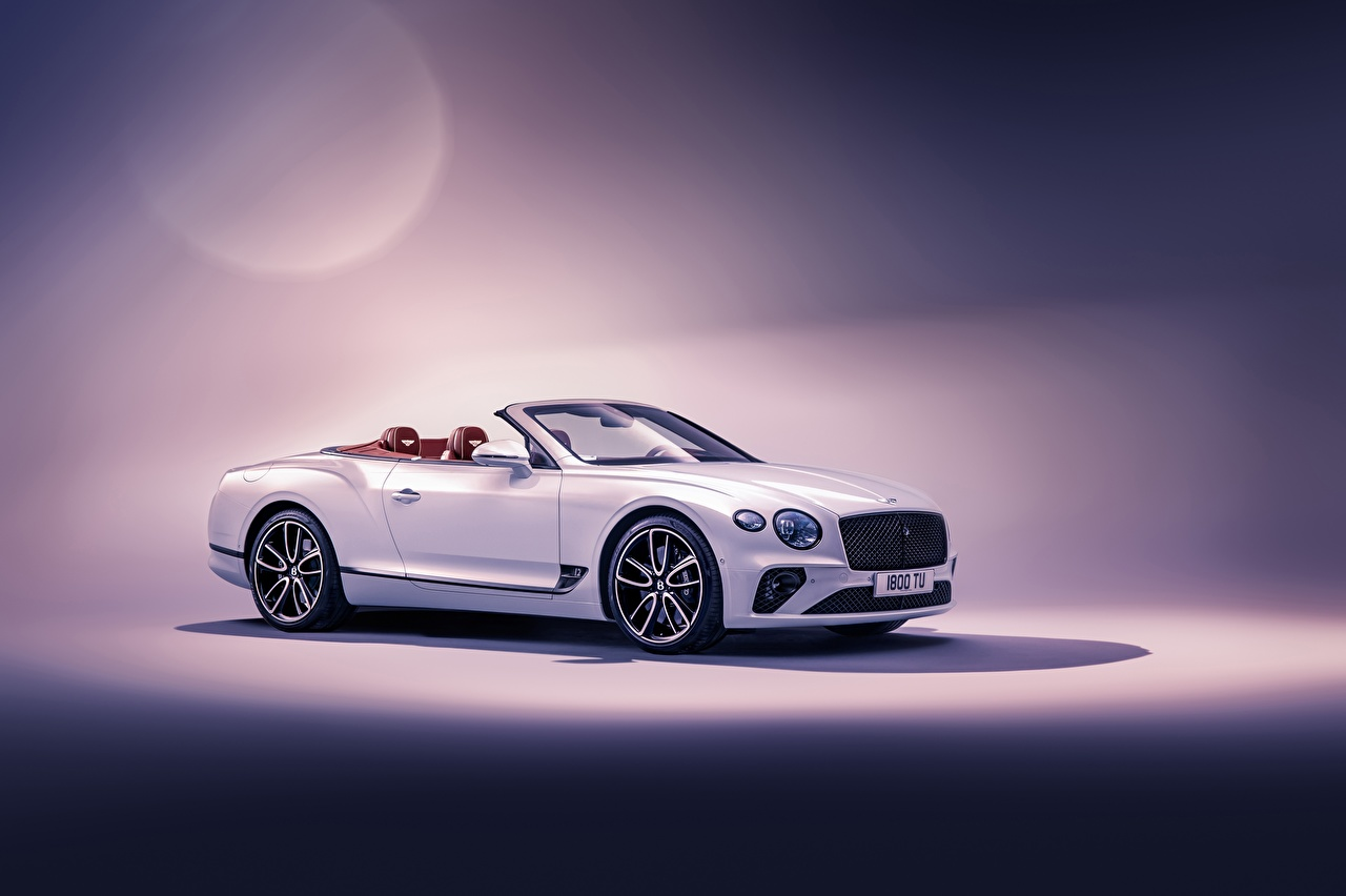Pictures Bentley Continental GT Convertible 2019 Cabriolet White auto Cars automobile