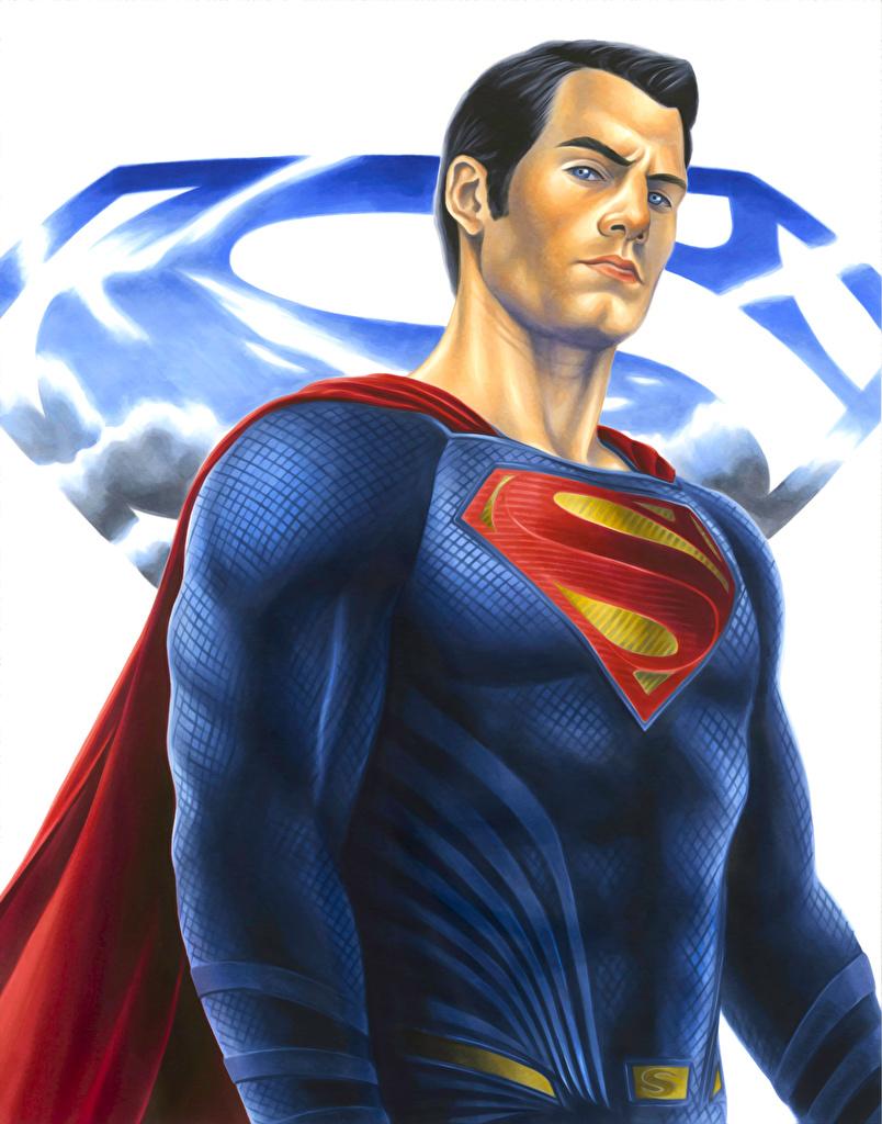 Фотографии Супермен герой Мужчины Фантастика  для мобильного телефона мужчина Фэнтези