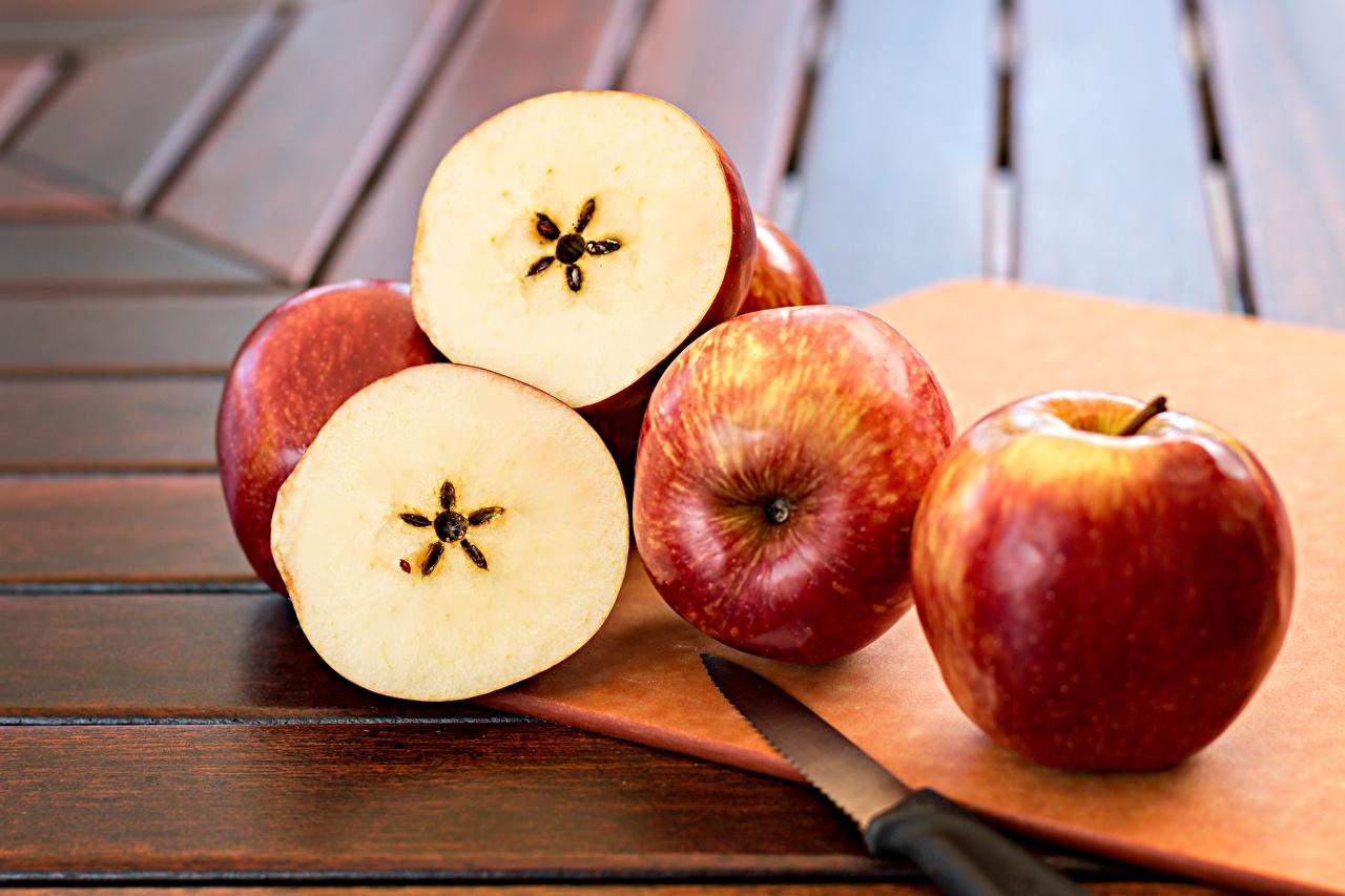 Bilder von Messer Äpfel Lebensmittel das Essen