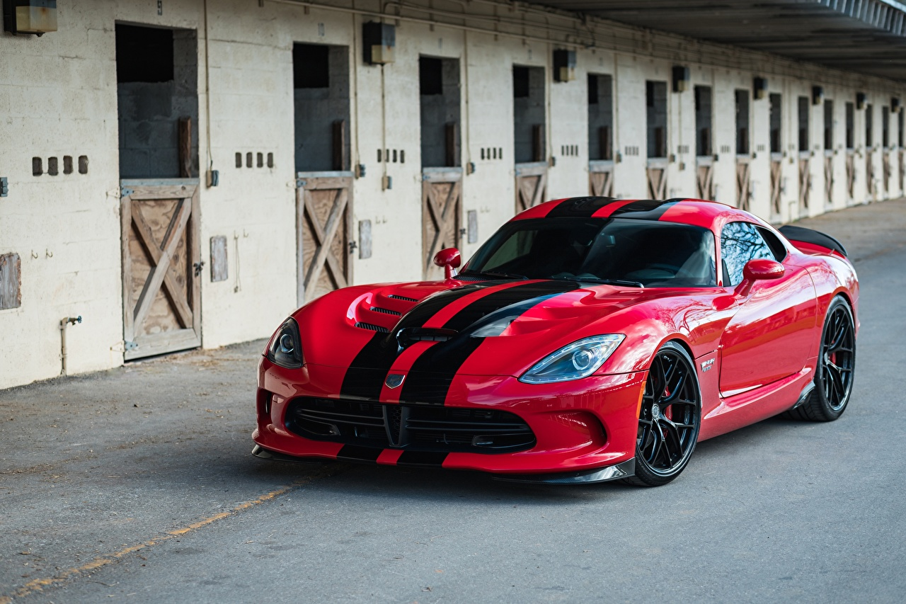 Wallpaper Dodge Viper GTS HRE Gloss Lightweight R101 Red Cars Stripes auto automobile