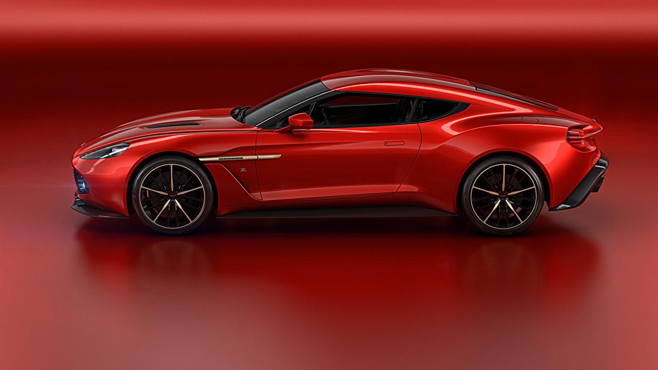 Bilder Von Aston Martin Zagato Vanquish Concept Rot Autos Seitlich