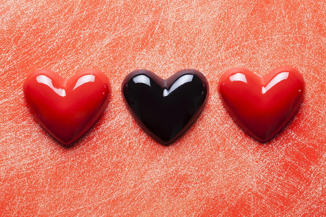 Photo Valentine's Day Heart Three 3