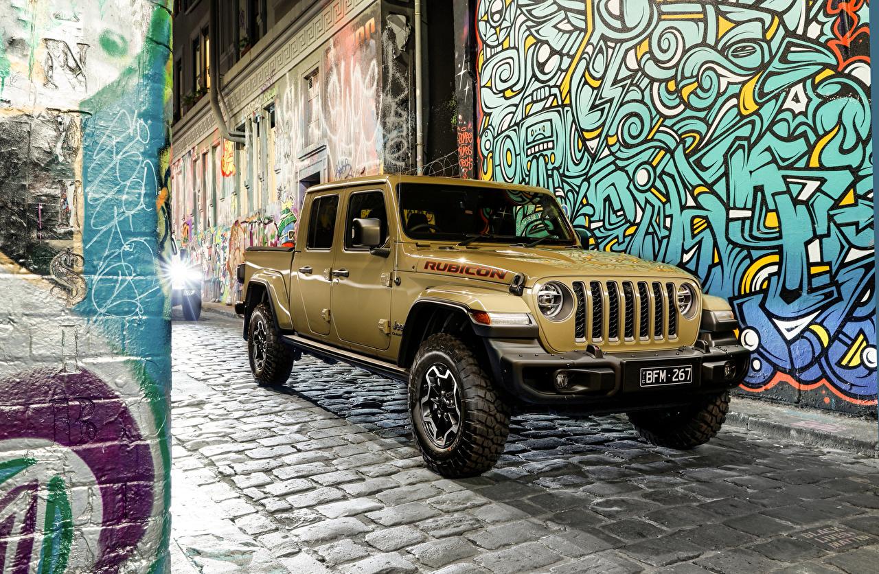 Photo Jeep Sport utility vehicle 2020 Gladiator Rubicon Pickup Cars Metallic SUV auto automobile