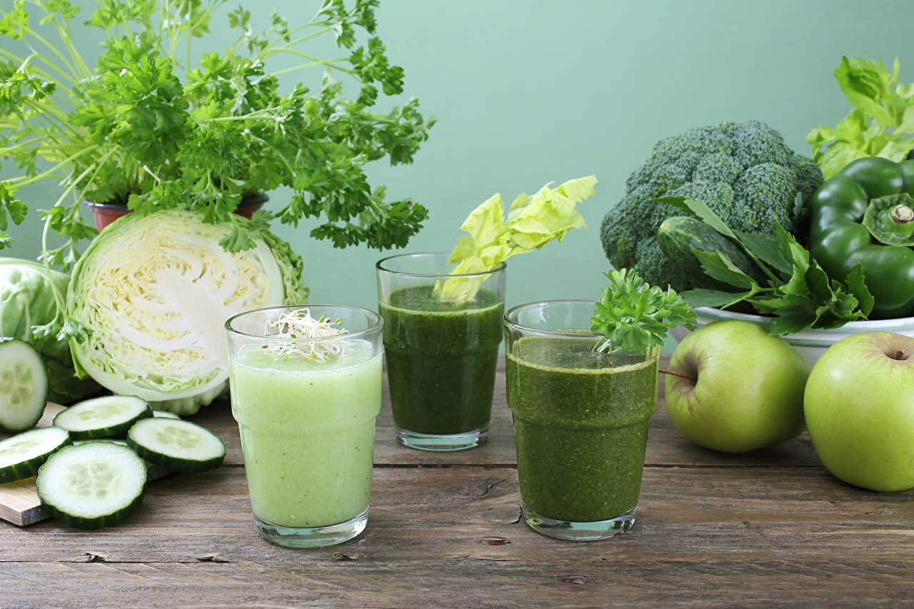 Wallpaper smoothy Cabbage Cucumbers Apples Highball glass Food Vegetables Smoothie