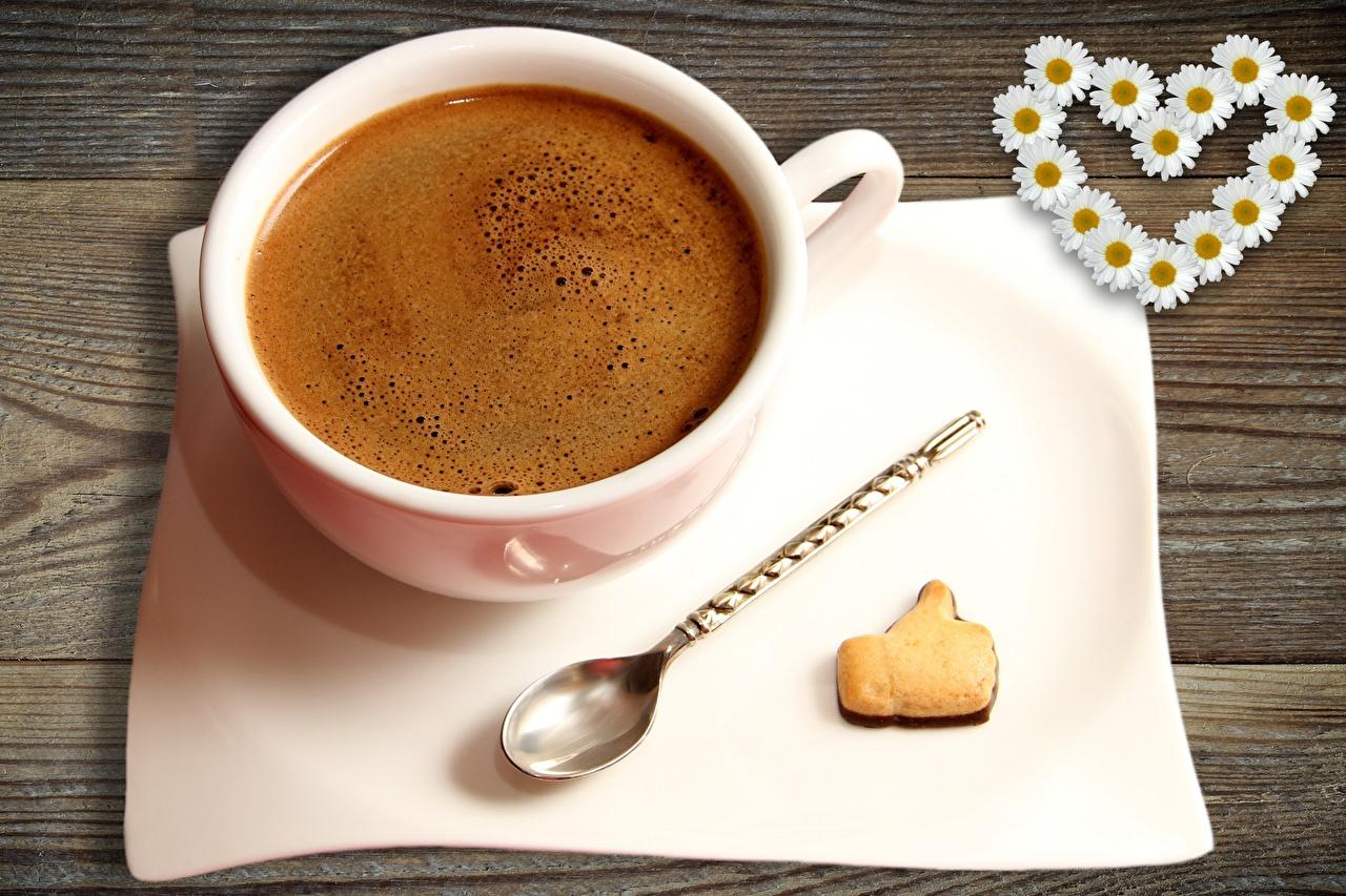 Fotos Herz Kaffee Kekse Tasse Lebensmittel