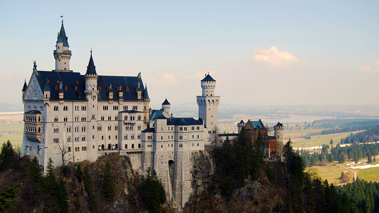 Photos Bavaria Neuschwanstein Germany castle Cities Castles