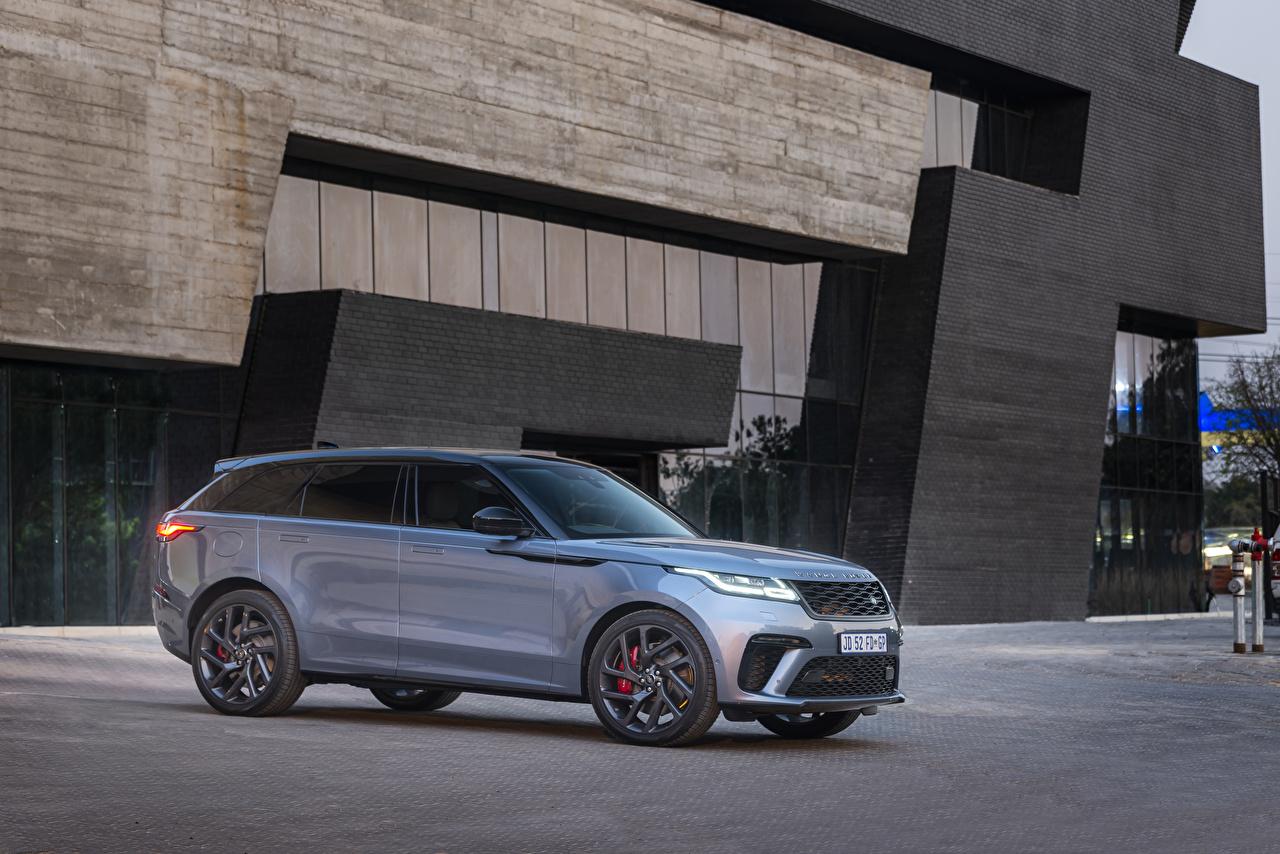 Desktop Hintergrundbilder Land Rover Crossover 2019-20 Velar SVAutobiography Dynamic Edition Grau Autos Metallisch Softroader graue graues auto automobil