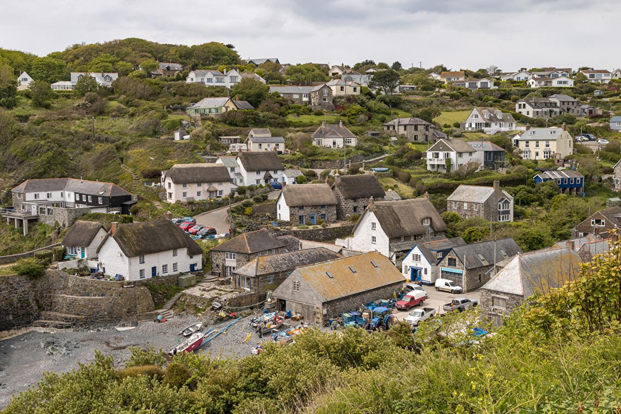 Royaume-Uni Maison Cadgwith Cove Village Le toit Bâtiment Villes
