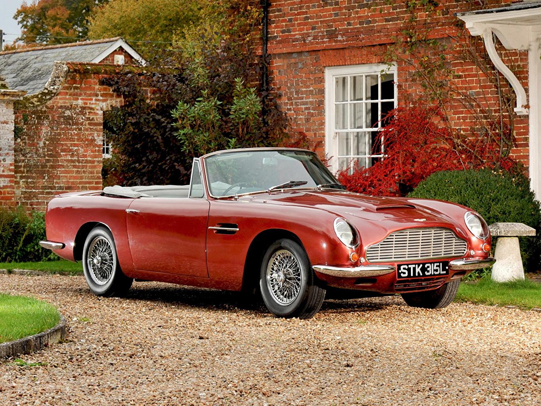 Fondos De Pantalla Aston Martin 1965 Db6 Volante Rojo Cabriole Coches Descargar Imagenes