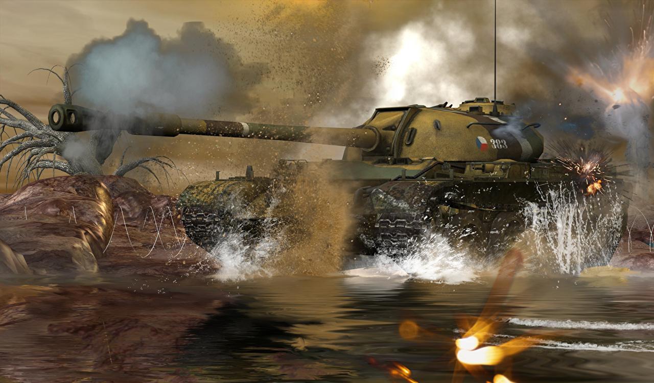 Foto Panzer Russische T-54 3D-Grafik