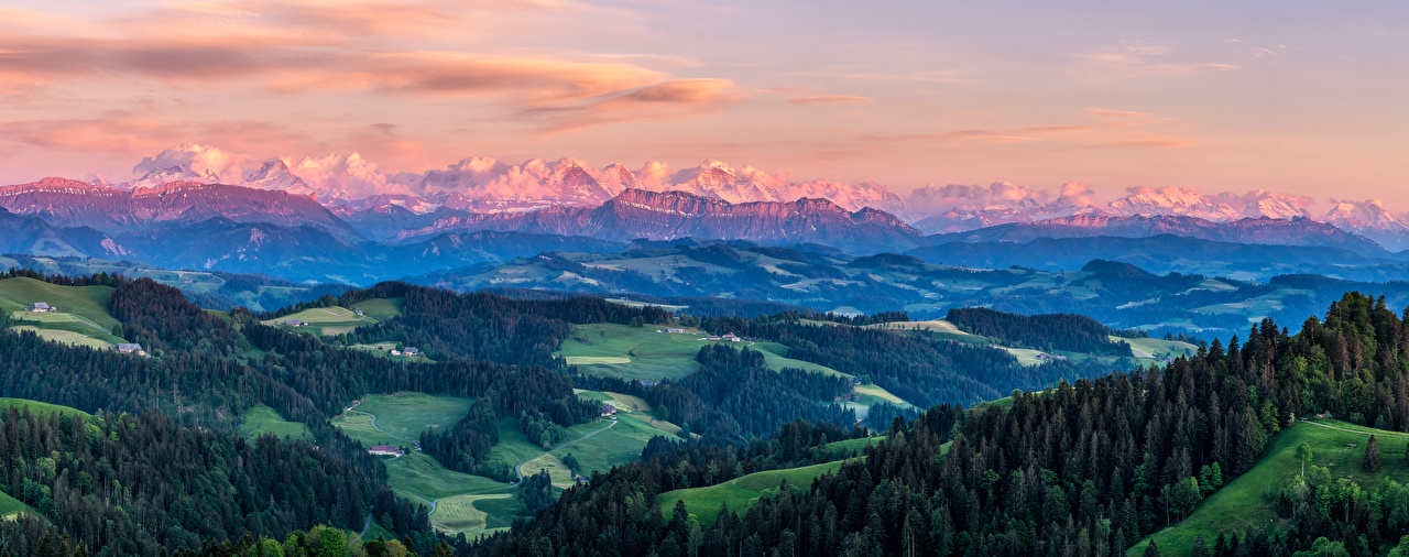 Picture Nature Panorama Switzerland Oberland Alps mountain Scenery panoramic Mountains landscape photography
