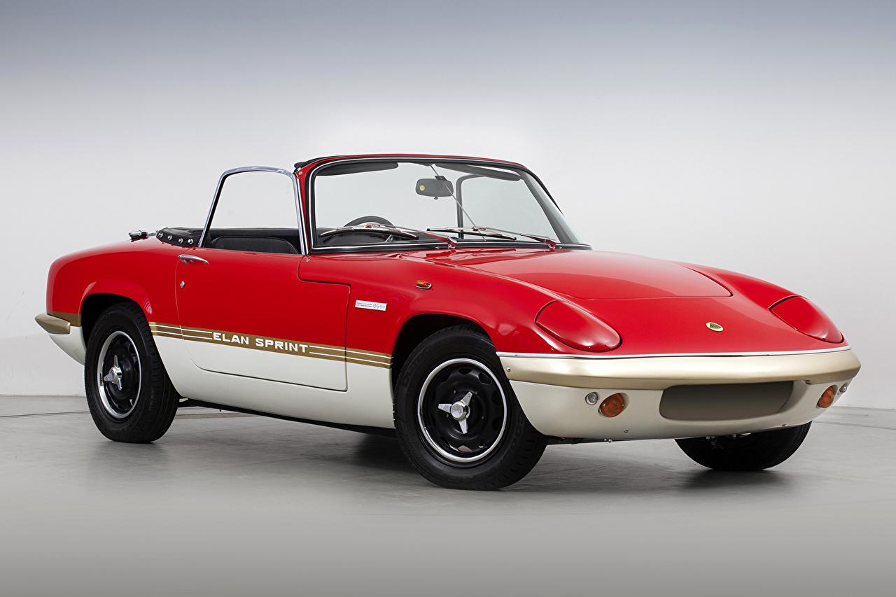 Photos Lotus 1971-73 Elan Sprint Drophead Coupe Convertible Red antique Cars Metallic Cabriolet Retro vintage auto automobile