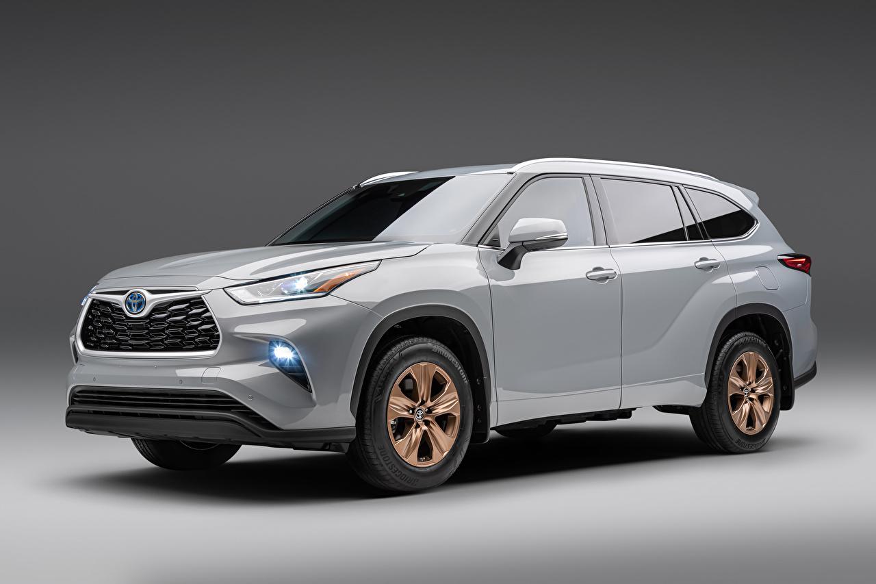 Toyota Highlander XLE Bronze Edition, (North America), 2021 Cinza Metálico carro, automóvel, automóveis Carros