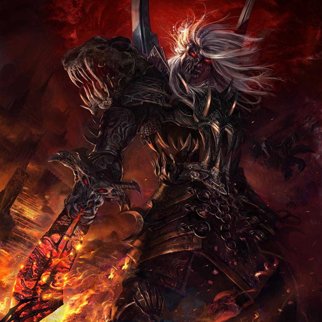 Guerrier Démons Legend of the Cryptids Épée Armure Rictus jeu vidéo, guerriers, démon Jeux Fantasy