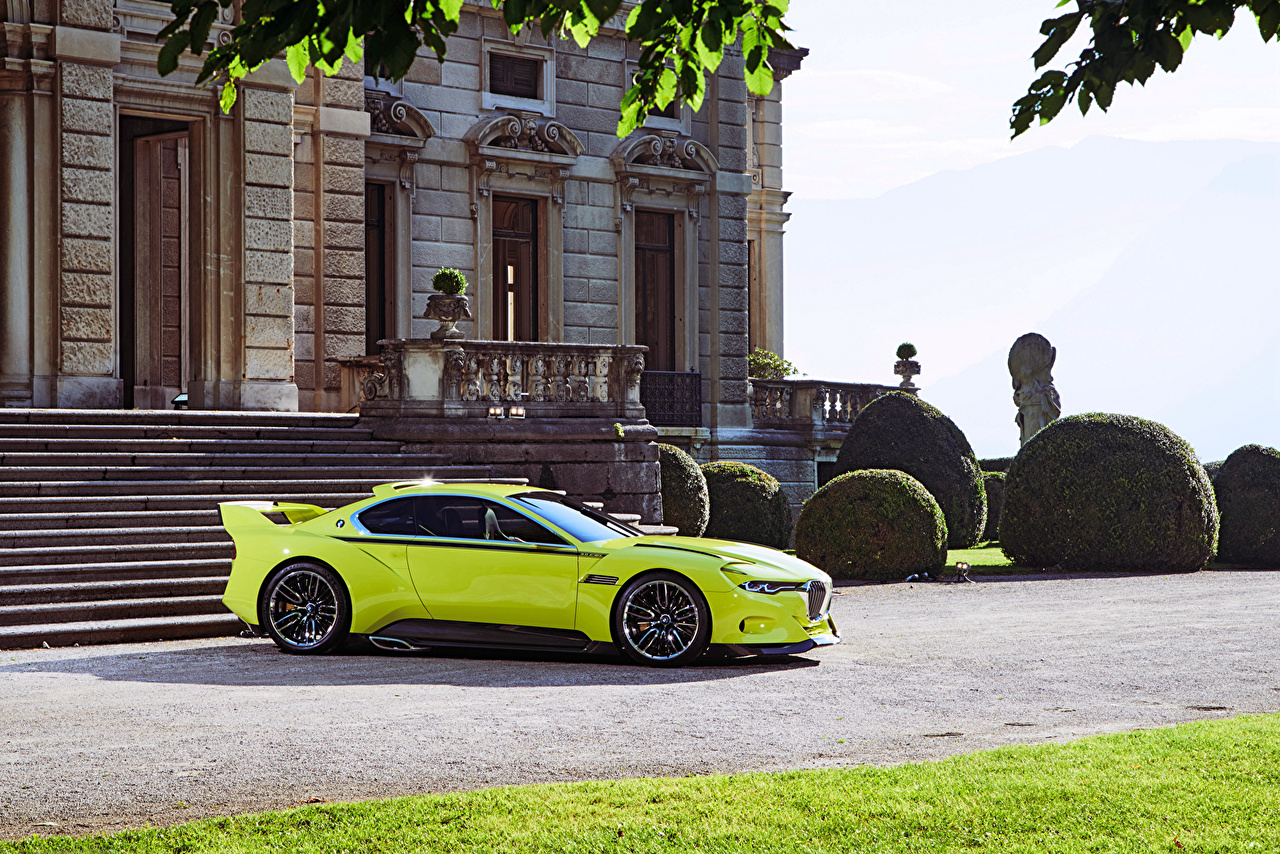 Images BMW Tuning 2015  3.0 CSL Hommage Yellow green auto Metallic lime color Cars automobile