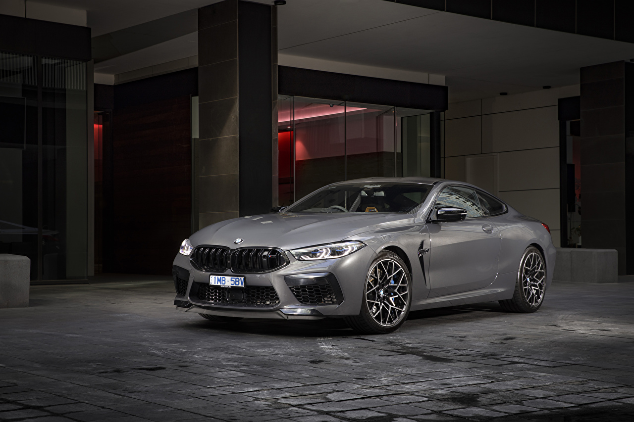 Pictures BMW Coupe Grey automobile gray auto Cars