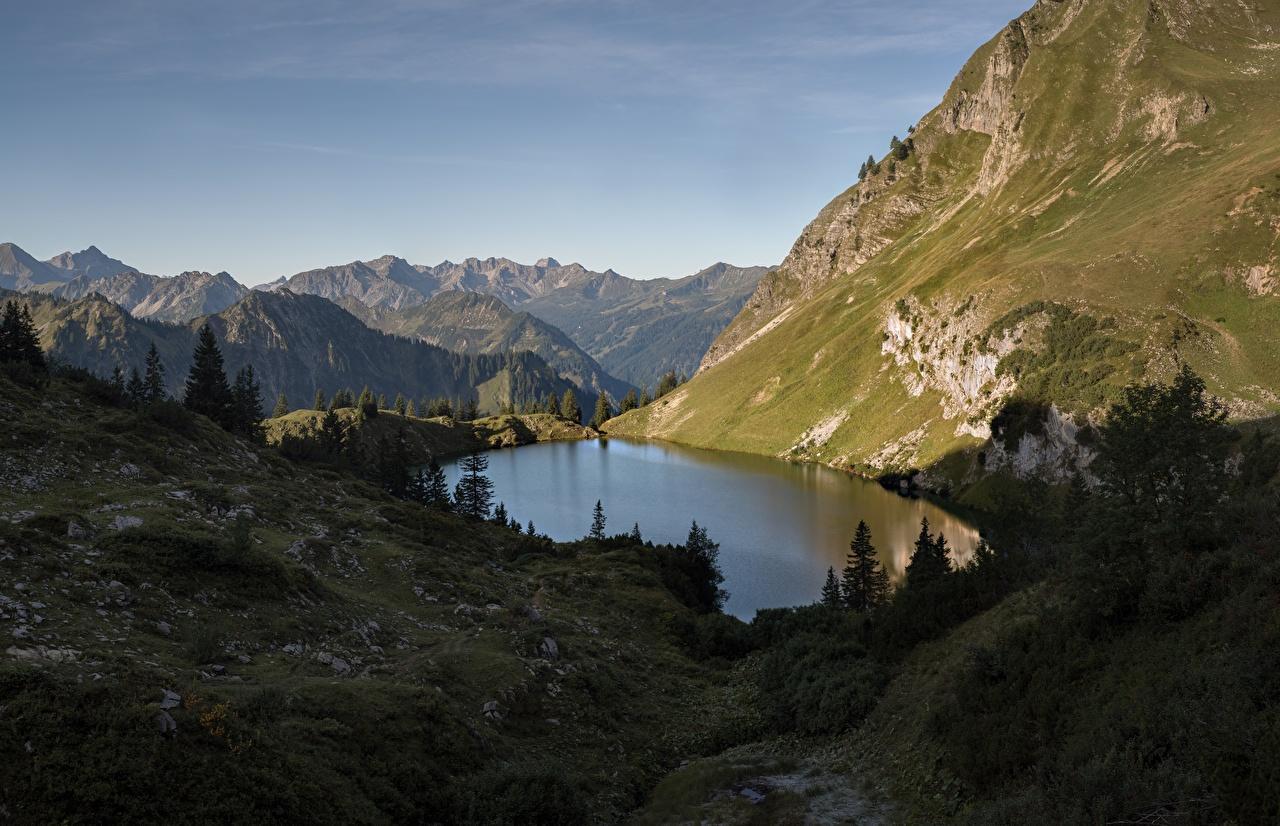 Desktop Hintergrundbilder Alpen Deutschland Bergsee, Mecklenburg-Vorpommern Natur Gebirge See Berg