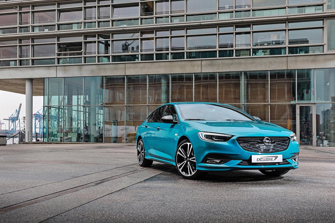 Fotos Opel 2017-18 Insignia Grand Sport Exclusive Hellblau Autos Metallisch auto automobil