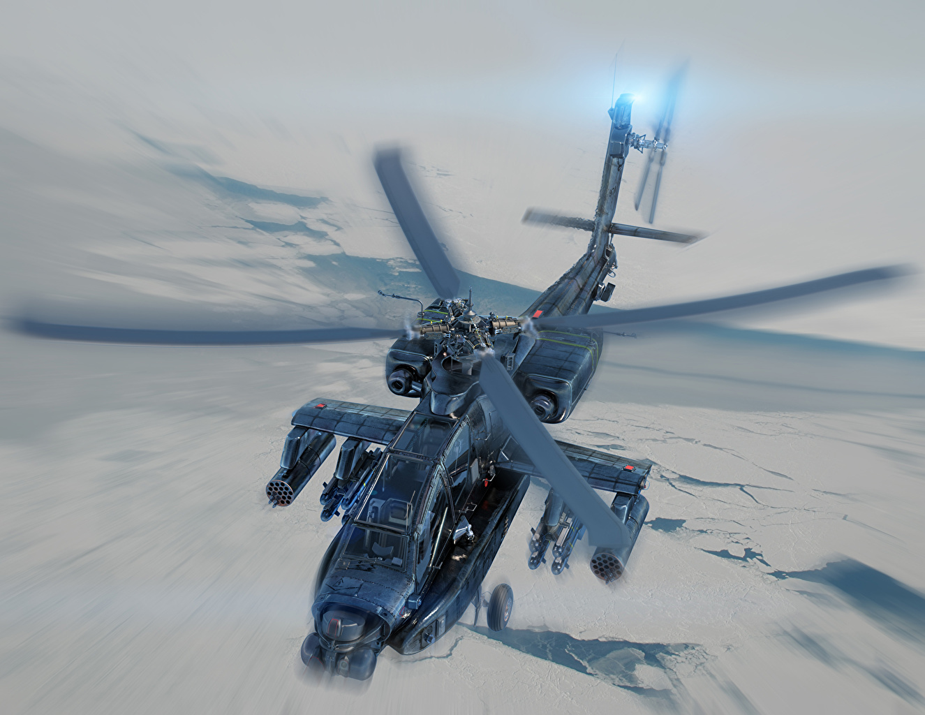 Desktop Wallpapers Aviation Helicopters Longbow Painting Art AH-64 Apache helicopter