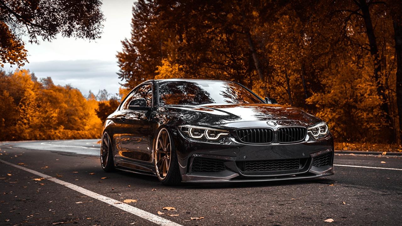 Photos BMW Tuning 4-Series Black Metallic automobile Cars auto