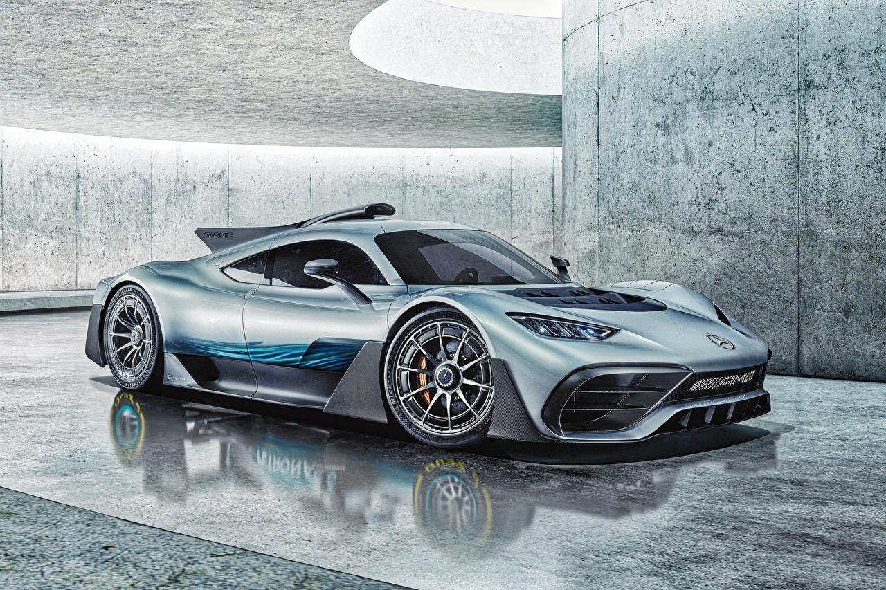 Fotos von Mercedes-Benz Concept AMG Project ONE Autos Seitlich auto automobil