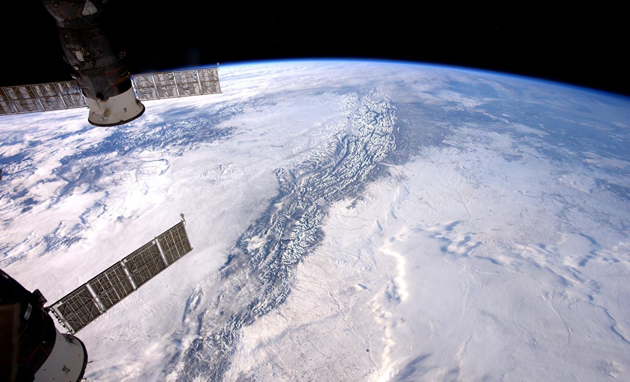 Afbeelding Aarde Ruimtestation Planeet oppervlak NASA, ISS Ruimte
