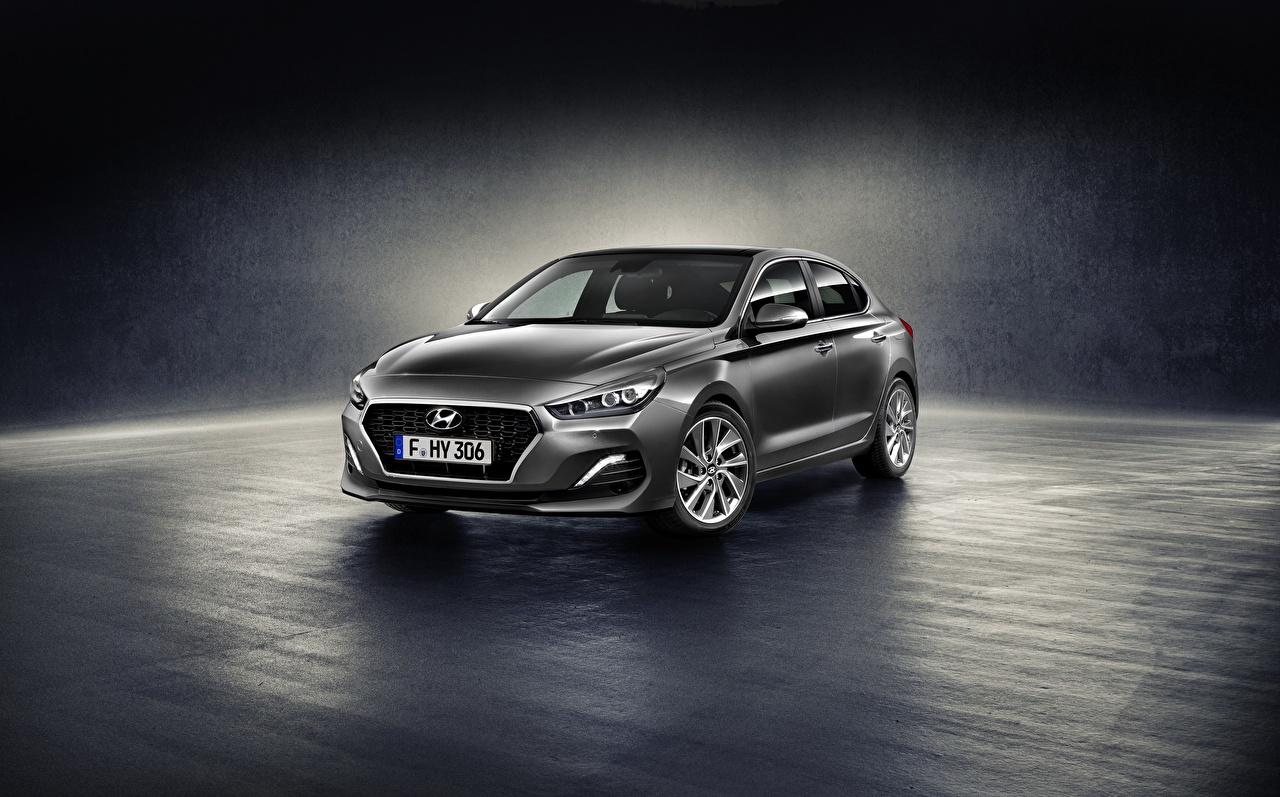 Pictures Hyundai i30 Fastback Grey Cars Metallic gray auto automobile