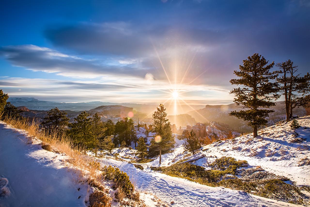 Fonds D Ecran Hiver Photographie De Paysage Ciel Neige