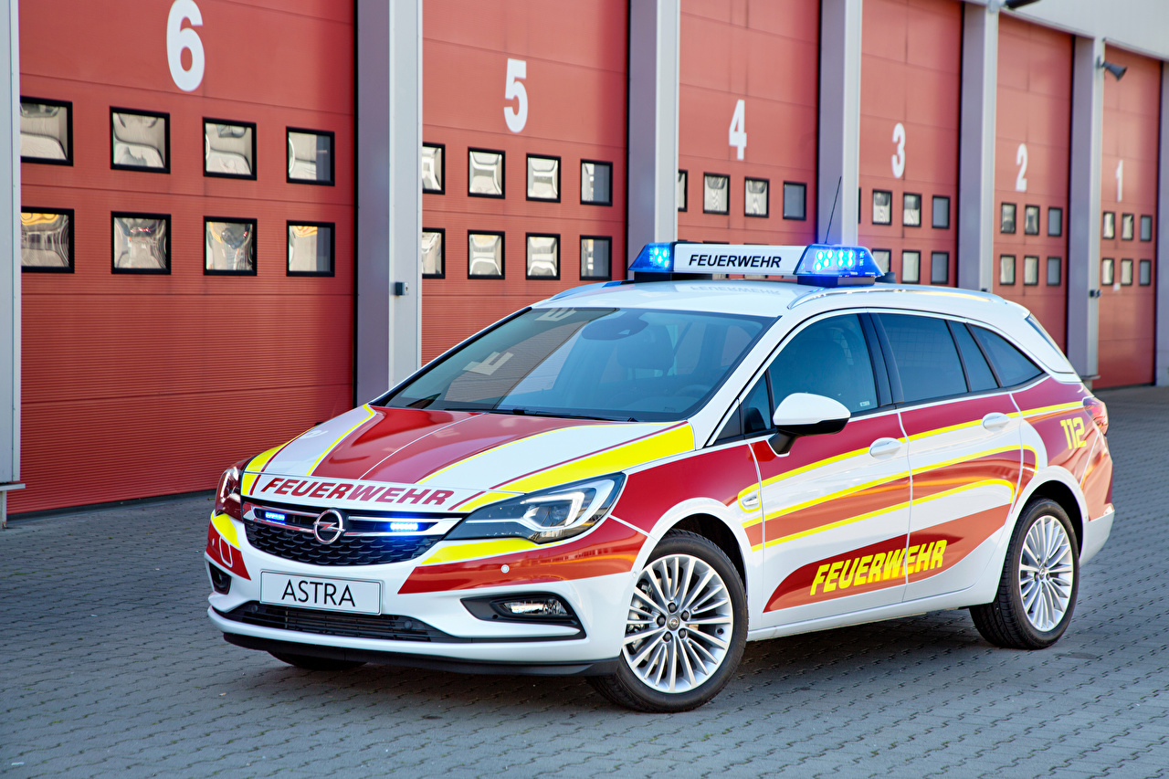 Picture Opel Tuning 2016 Astra Sports Tourer Feuerwehr White Cars auto automobile
