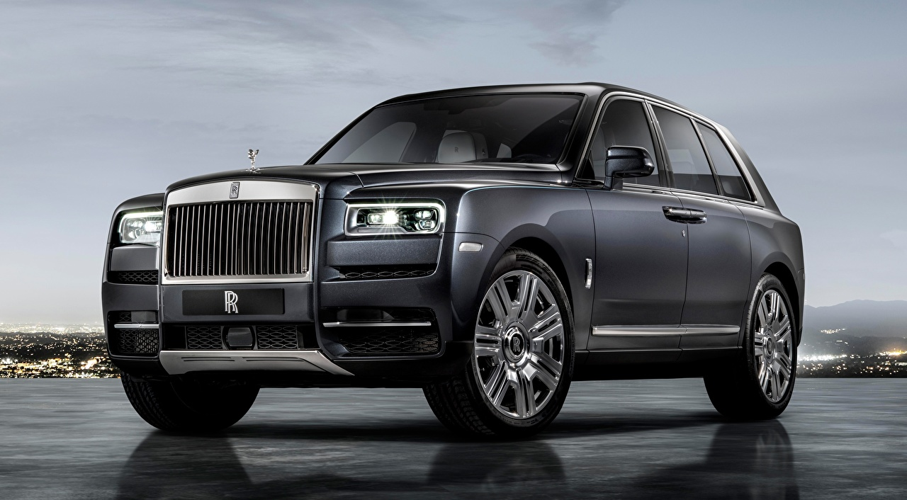 Wallpaper Rolls-Royce Crossover Cullinan, 2018 Luxury Grey Cars CUV luxurious expensive gray auto automobile