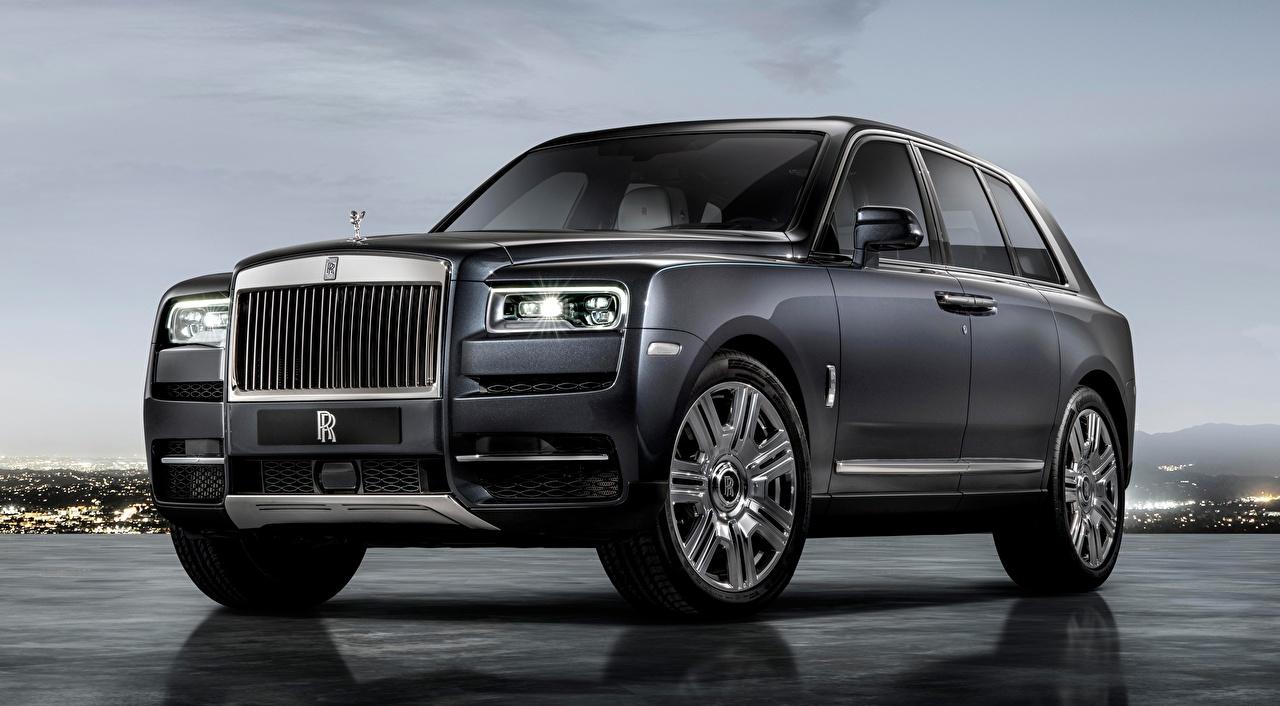 Sfondi Rolls-Royce Crossover Cullinan, 2018 Lusso Grigio Auto CUV costoso costose lussuoso grigia macchine macchina automobile autovettura
